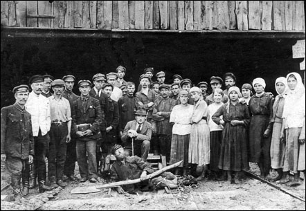 Workers of Kivertsy wood processing enterprise, post-war times