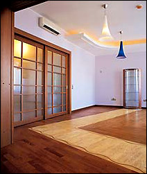 Example of laying artistic parquet